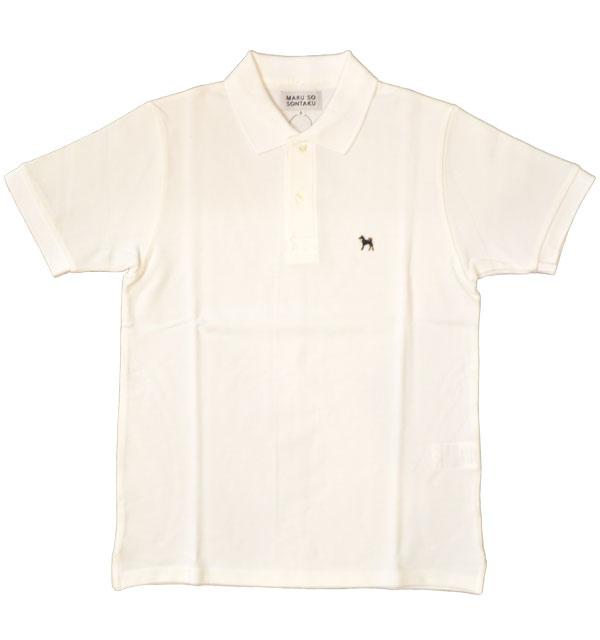ソンタク SONTAKU ポロシャツ POLO SHIRTS 黒柴 WHITE