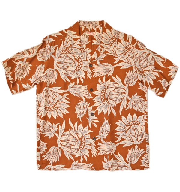 サンサーフ 【SUN SURF】 アロハシャツ ALOHA SHIRTS FLASHING KING PROTEA BROWN