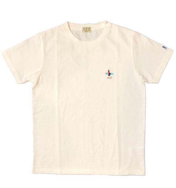 ザエンドレスサマー 【THE ENDLESS SUMMER】 刺繍入りTシャツ TES CALIFORNIA CREW EMB-TEE WHITE