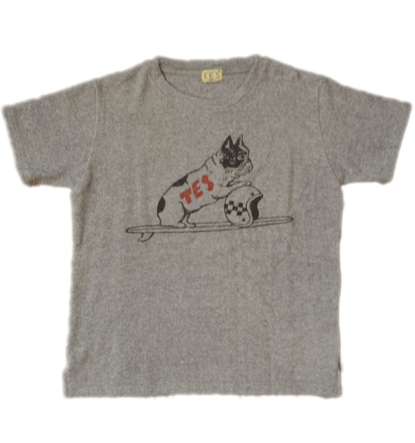 ザエンドレスサマー 【THE ENDLESS SUMMER】  両面パイルTシャツ COMFORTABLE PILE TEE BUHI TRACKER TEE GRAY