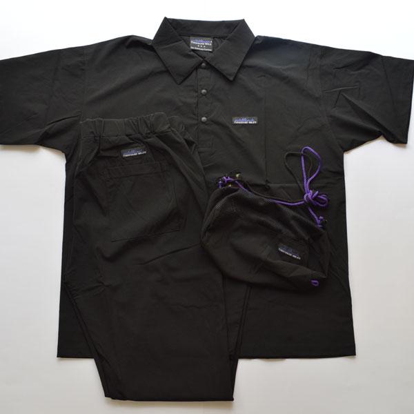 サウザンドマイル THOUSAND MILE ストレッチナイロン ポロシャツ セットアップ×サコッシュ BLACK