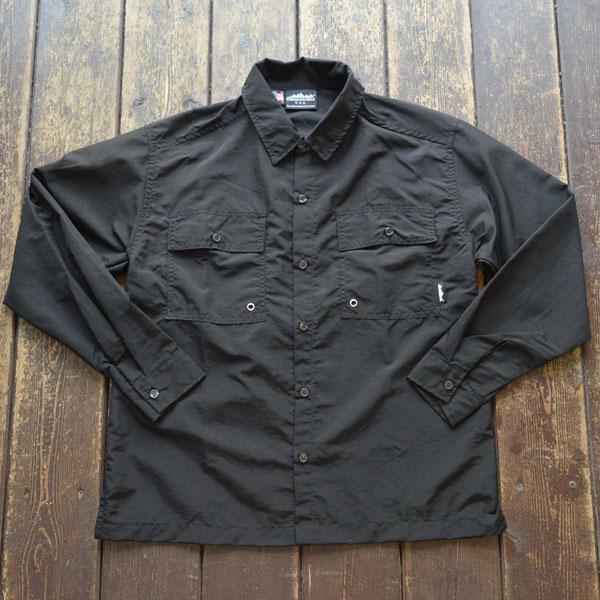 サウザンドマイル THOUSAND MILE サプレックスナイロンユーティリティシャツ UTILITY SHIRTS MADE IN USA BLACK