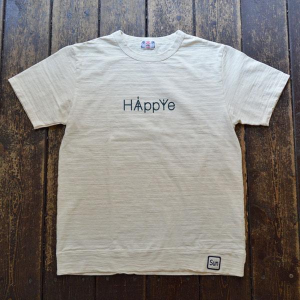 ユーエムアイ サンライズ U.M.I SUNRISE スラブプリント半袖Tシャツ HIPPY NATURAL
