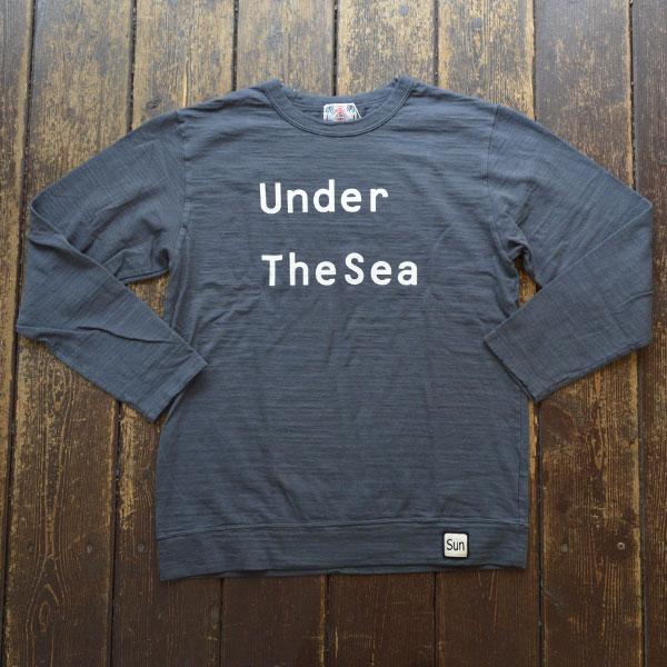 ユーエムアイ サンライズ U.M.I SUNRISE スラブプリント長袖 UNDER THE SEA NAVY