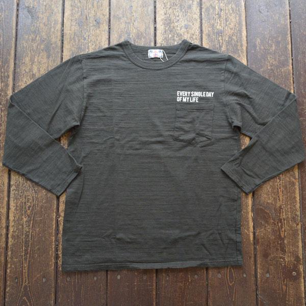 ユーエムアイ サンライズ U.M.I SUNRISE L/S スラブポケットTシャツ EVERY SINGLE DAY OF MY LIFE BLACK