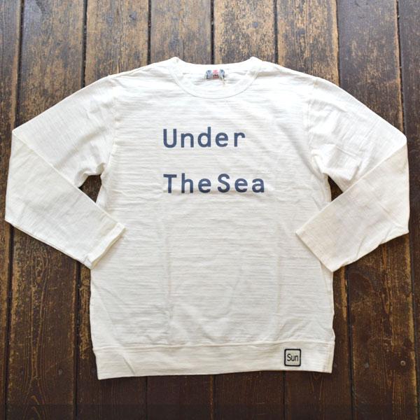 ユーエムアイ サンライズ U.M.I SUNRISE スラブプリント長袖 UNDER THE SEA WHITE