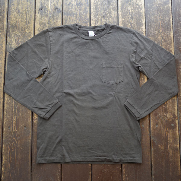 ベルバシーン Velva Sheen ロングスリーブ ポケットTシャツ TUBULER L/S TEE 160928 BLACK