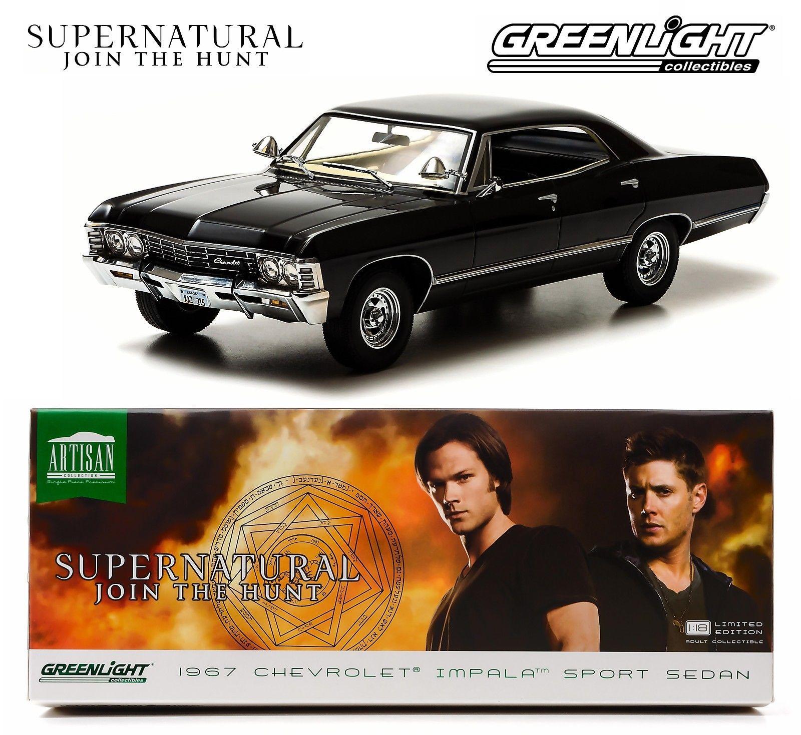 1/18  SUPERNATURAL'S BLACK 1967 CHEVROLET IMPALA インパラ  18-163