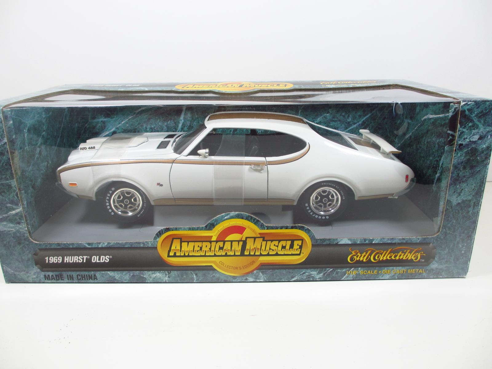 """1/18  ERTL 1969 Hurst Oldsmobile """"4-4-2"""" ハースト オールズ モービル 18-165"""