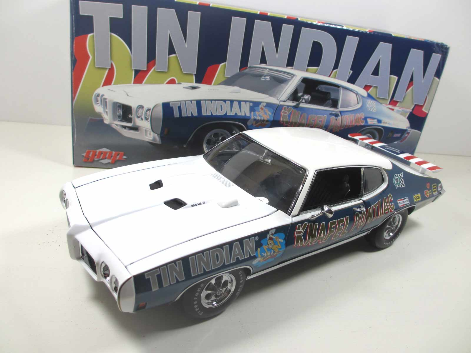 1/18  GMP  1970 Knafel Pontiac Tin Indian Drag car 18-170