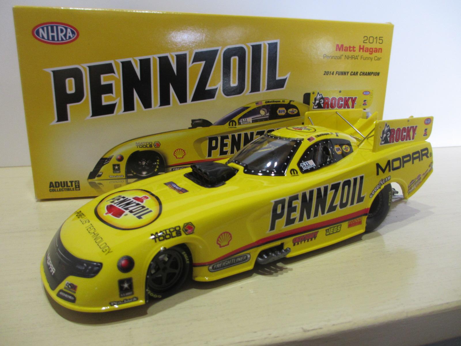 1/24 MATT HAGAN SCHUMACHER RACING PENNZOIL 2015 FUNNY CAR  24-133