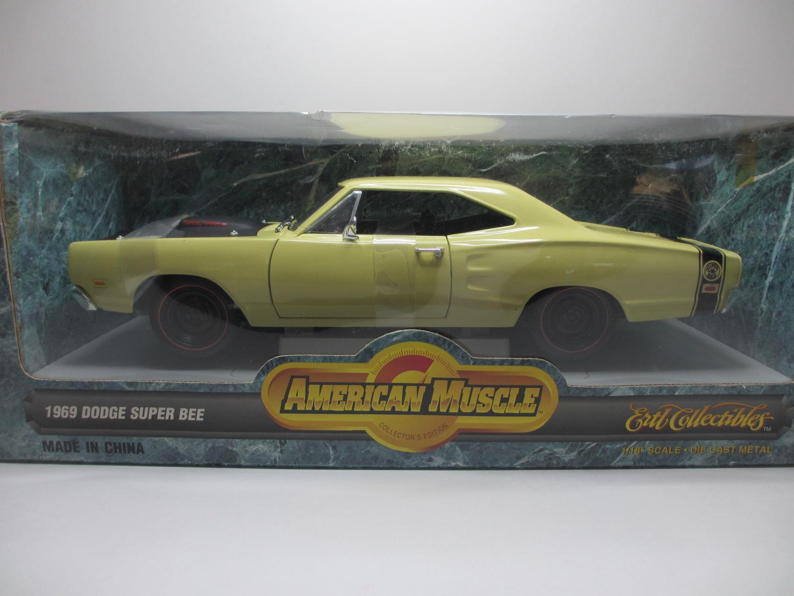 1/18  ERTL 1969 Dodge Super Bee Yellow ダッチ スーパー ビー 18-206