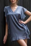 在庫△ セール 高級 フランス製 Marjolaine 新作 2018年 春夏 ラグジュアリー エターナル シルク ナイトドレス パジャマ