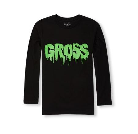 Boys Long Sleeve GROSS ROGO グラフィック ロゴ Tシャツ/Tシャツ