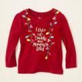 アメリカ チルドレンズプレイス クリスマス ライトTシャツ