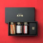 「紅白」瓶詰ギフトセット(香辣脆・XO醤・ピクルス)化粧箱入り