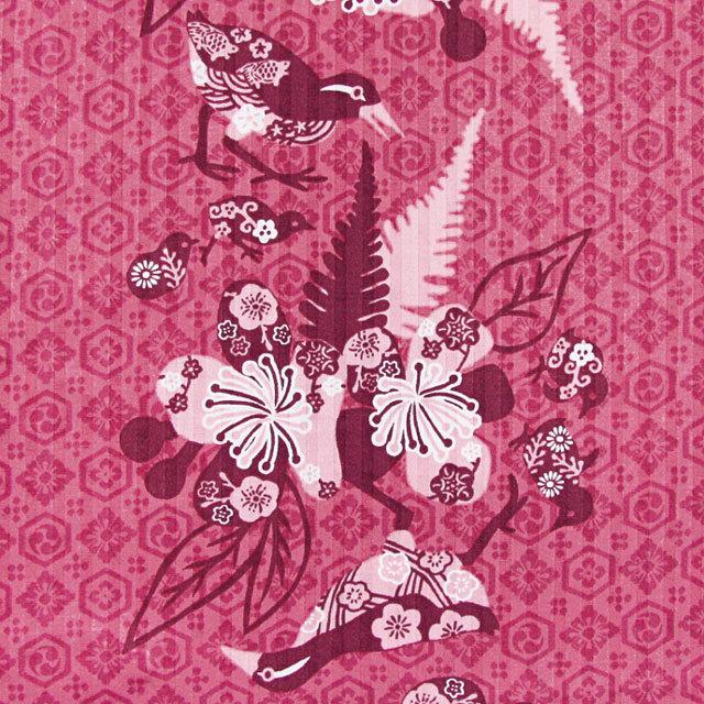 Men's紅型イジュヤンバルクイナ オープンシャツ ピンク