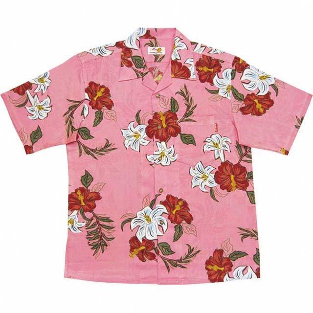 Men'sジャガードユリハイビー オープンシャツ