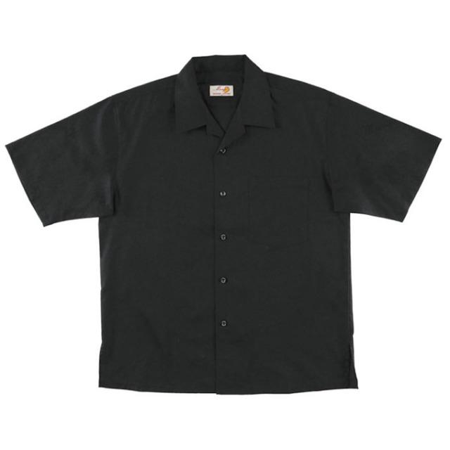 Men'sジャガードシーサーフォーマル オープンシャツ フォーマルブラック