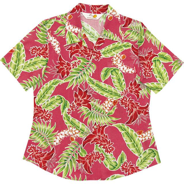Lady'sデイゴ月桃 オープンシャツ