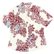 Lady's大柄クイナ オープンシャツ オフレッド