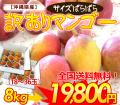沖縄産サイズばらばら訳ありマンゴー(ご家庭用)8kg【送料無料】