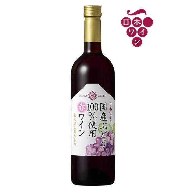 国産ぶどう100%使用 赤ワイン 酸化防止剤無添加