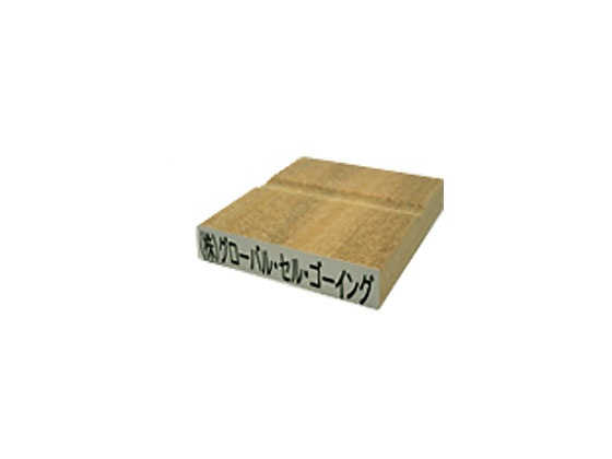 ゴム印 長方形 赤ゴム タテ9mm×ヨコ65mm のべ板(データご入稿商品)(05P29Jul16)