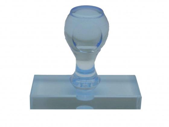 ゴム印 トップスター台(プラスチック台) サイズ:タテ20mm×ヨコ60mm 黒ゴム ブルー(青)色
