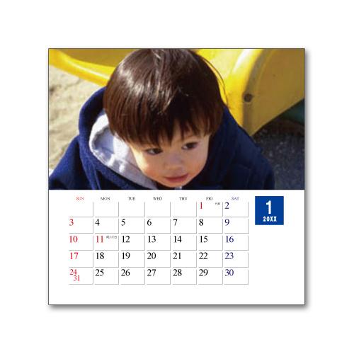卓上カレンダー CDサイズ (写真入り、名前無し) スタンダード