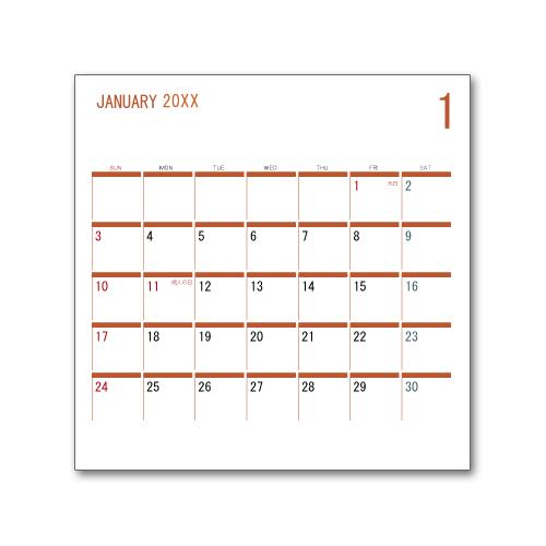 卓上カレンダー CDサイズ (写真無し、名前無し) ビジネス8