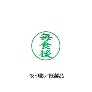 シャチハタ 既製品 Xスタンパー ビジネス用 E型 インキ:緑    【毎食後 印面:タテ】 XEN-124V6