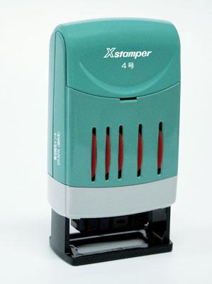 Xスタンパー 回転日付印 欧文日付 (補充インキ2本付)4号