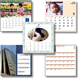 オリジナル写真入りカレンダー印刷 テスト