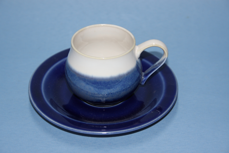 【先達窯】ロイヤルブルー コーヒーカップ&ソーサー