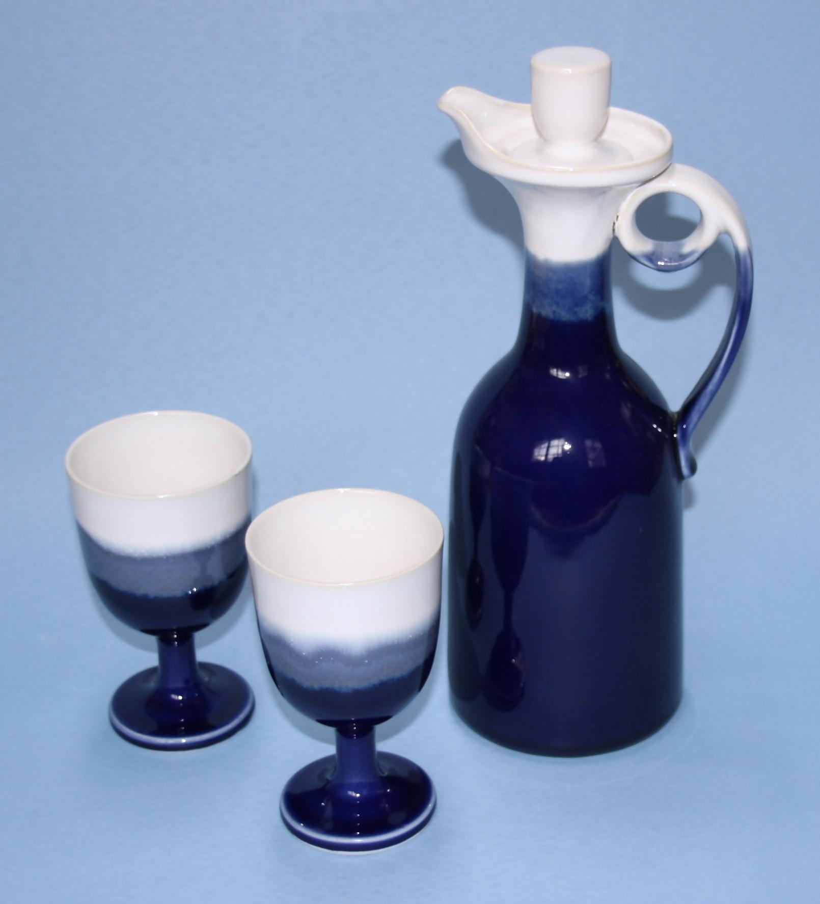 【先達窯】ロイヤルブルー ワインカップ
