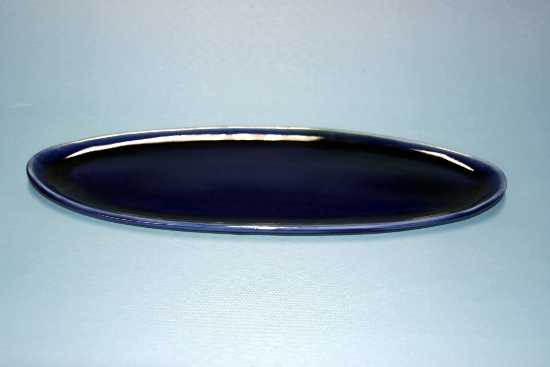 【先達窯】ロイヤルブルー オーバル皿(大)