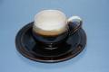 【先達窯】天目釉、コーヒーカップ&ソーサー