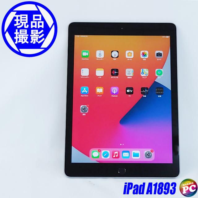 Apple iPad 第6世代 Wi-Fi A1893 MR7F2J/A(現品撮影) 32GB iOS14 Apple A10 Fusion搭載 WEBカメラ Bluetooth 無線LAN 液晶9.7型 中古タブレットパソコン◇