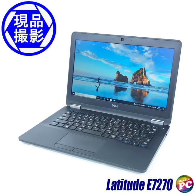 Dell Latitude E7270(現品撮影) メモリ8GB SSD128GB Windows10-Pro コアi5-6200U(2.30GHz)搭載 WEBカメラ バックライトキーボード Bluetooth 無線LAN WPS Office付き 液晶12.5型 中古ノートパソコン 訳あり◇