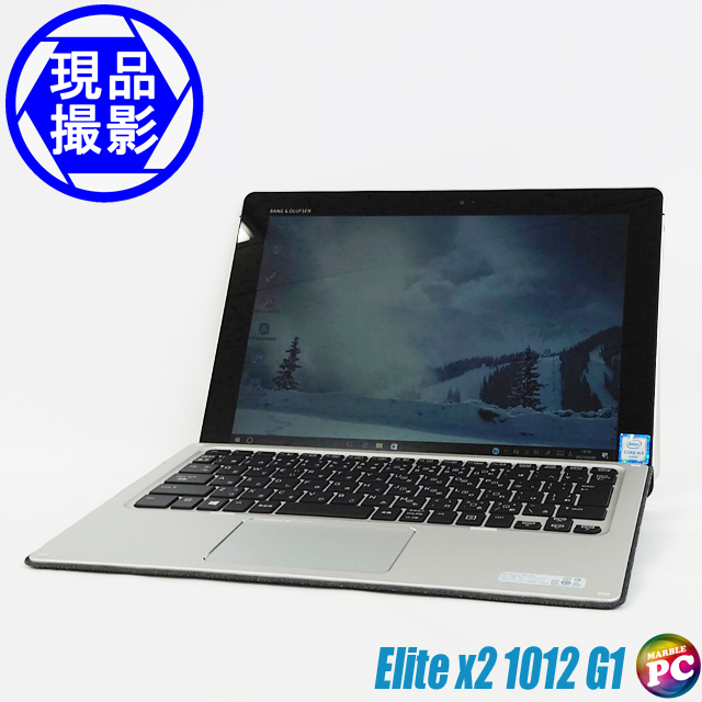 HP Elite x2 1012 G1 for au V2D61PA#ABJ(現品撮影) メモリ4GB SSD128GB Windows10-Pro コアm3-6Y30(0.90GHz)搭載 WEBカメラ 専用キーボード Bluetooth 無線LAN 無線WAN(LTE for au) WPS Office付き WUXGA+ 高解像度液晶12.0型 中古タブレットパソコン 訳あり◇