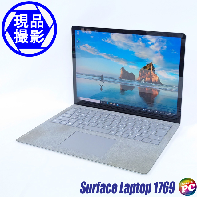 Microsoft Surface Laptop Model 1769(現品撮影) メモリ16GB SSD512GB Windows10-Pro コアi7-7660U(2.50GHz)搭載 グラフィックス WEBカメラ Bluetooth 無線LAN WPS Office付き 液晶13.5型 中古ノートパソコン 訳あり◇