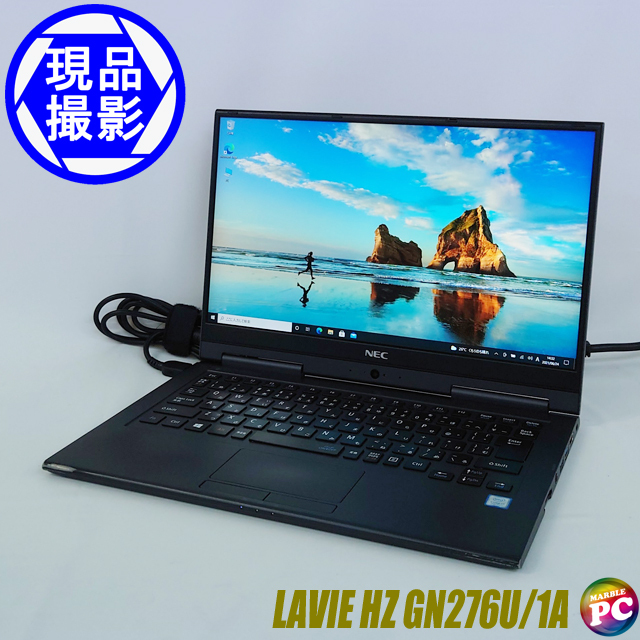 NEC LAVIE Direct Hybrid ZERO GN276U/1A(現品撮影) メモリ8GB SSD NVMe512GB Windows10 コアi7-7500U(2.70GHz)搭載 WEBカメラ Bluetooth 無線LAN WPS Office付き フルHD 高解像度液晶13.3型 中古2in1ノートパソコン 訳あり◇