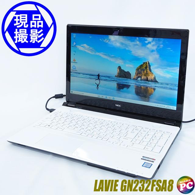 NEC LAVIE Direct NS [Note Standard(S)] PC-GN232FSA8(現品撮影) メモリ8GB 新品SSD256GB Windows10-Home コアi3-6100U(2.30GHz)搭載 WEBカメラ テンキー付きキーボード DVDスーパーマルチ Bluetooth 無線LAN WPS Office付き 液晶15.6型 中古ノートパソコン 訳あり