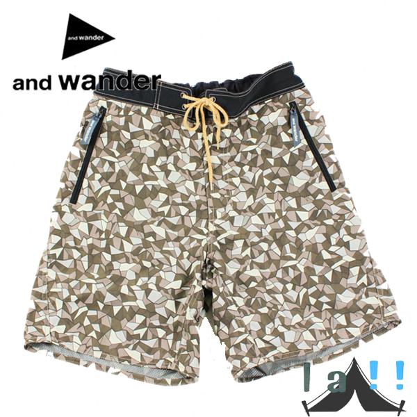 【andWANDER】 アンドワンダー surf shorts サーフショーツ