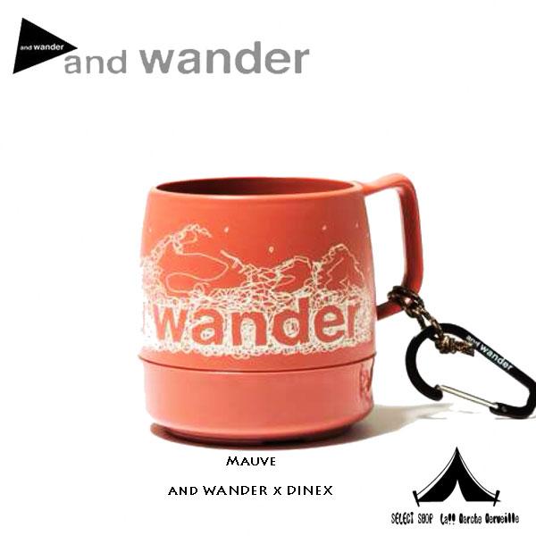 【 andwander × Dinex 】 アンドワンダー × ダイネックス printed mug 別注プリンテッドマグ