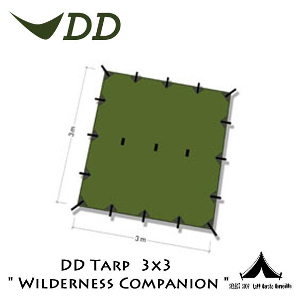 "【 DD 】 DD Tarp タープ 3x3  "" Wilderness Companion ""ウィルダネス・コンパニオン"
