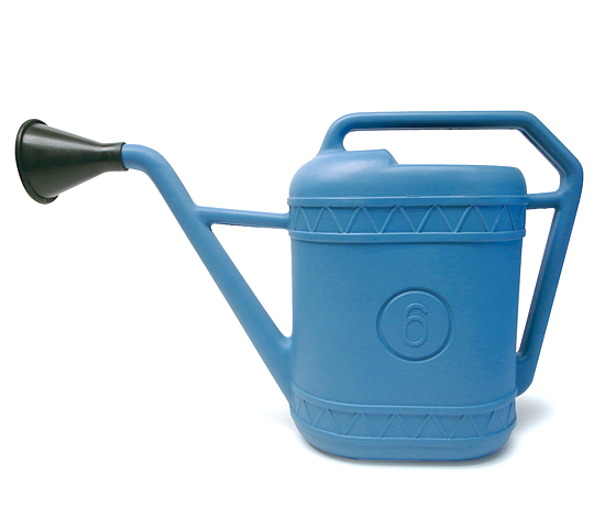 【 Italian plastic watering can 】プラスチック製 ジョウロ 【6 リットル】 Made in Italy