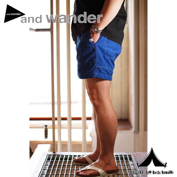 【andWANDER】 アンドワンダー nylon climbing short pants ナイロンクライミングパンツ <AW-FF745>