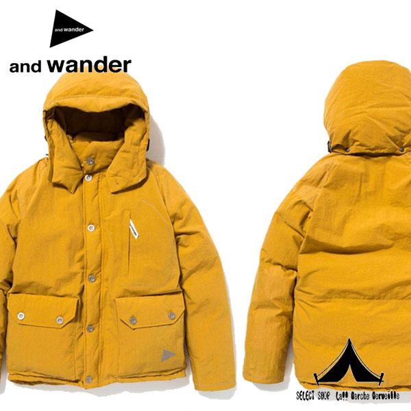 【 andwander 】 アンドワンダー Down Jacket (men)  ダウンジャケット